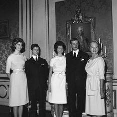 STOCKHOLM, SWEDEN - DECEMBER 19: Princess Désirée of Sweden and Baron Niclas Silfverschiöld have announced their engagement on December 19, 1963 in Stockholm, Sweden.