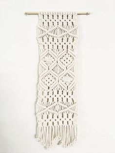 Handmade Macrame Wall Hanging  Vintage 1971 Inspired  by knottedLA