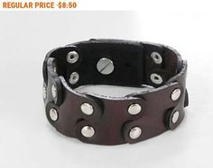 Revet Brown Leather Cuff Leather Bracelet