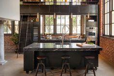 Clocktower Loft - Industrial - Kitchen - san francisco - by Muratore Construction + Design