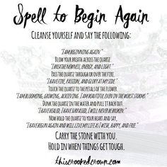 Sometimes, we just need to hit the refresh button on our lives. It'll help you make a fresh, new start. Begin again quartz magick Wiccan Spell Book, Witch Spell, Spell Books, Healing Spells, Magick Spells, Hoodoo Spells, Candle Spells, Candle Magic, Tarot