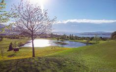 Aussicht vom Golfplatz Nuolen am oberen Zürichsee Mazda, Golf Clubs, Switzerland, Natural Beauty, Golf Courses, Places, Nature, Europe, Viajes