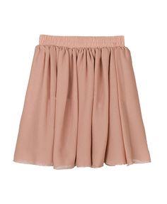 Vintage Pink Full Pleated and High Waist Chiffon Mini Skirt 4f5204651f