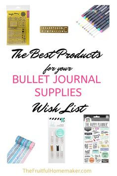 Enjoy planning with these gorgeous bullet journal supplies. Make your planner pop with these great planning resources, even if you are not that creative! Great gifts for the planner in your life! Bullet Journal Font, Bullet Journal Junkies, Bullet Journal Ideas Pages, Bullet Journal Inspiration, Bullet Journals, Planner Layout, Kpop, Happy Planner, Homemaking