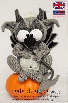 Gargoyle, crochet pattern by mala designs