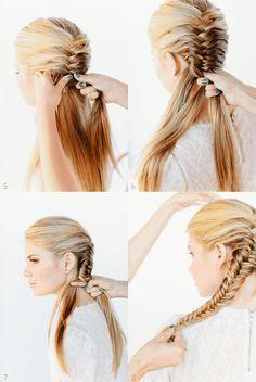 french/fishtail braid