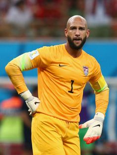 FIFA World Cup 2014 - USA 2 Portugal 2 (6.22.2014) Goalkeeper Tim Howard of the United States looks on during the 2014 FIFA World Cup Brazil Group G match between the United States and Portugal at Arena Amazonia on June 22, 2014 in Manaus, Brazil. Adam Pretty / Getty Images