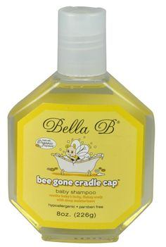 Bella B Bee Gone Cradle Cap Foaming Shampoo | Pregnancy Skin Care & Stretch Mark Prevention   Designer Maternity Clothes and Baby Gear Available at Due Maternity & Baby www.duematernityandbaby.com