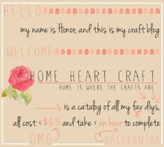 Welcome to Home HEart Craft