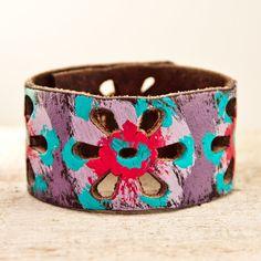 Bohemian Fashion Leather Jewelry Cuff Bracelet Hippie Gypsy Chic Autumn
