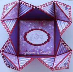 JRC #080 Entry #14 Napkin Fold Card (open) - Glenda