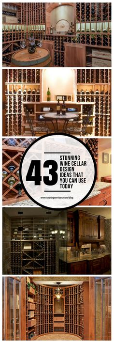 A great wine cellar is all about creating a controlled environment.  Whether it is located in a sprawling mansion or in a tiny apartment, design options are virtually limitless.