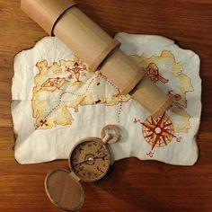 Cardboard Compass & Telescope | www.zygotebrowndesigns.com