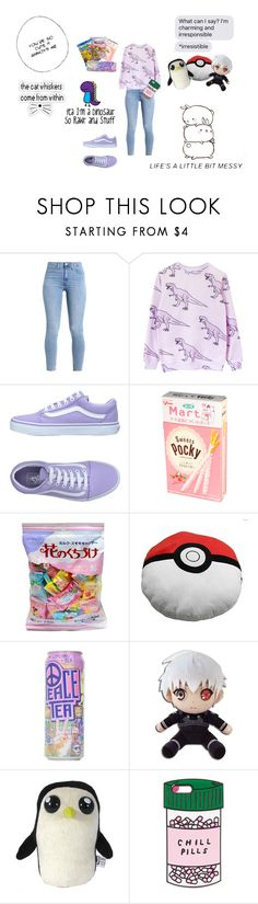 """I'm Kawaii"" by emo-like-always ❤ liked on Polyvore featuring Vans, GET LOST, ban.do, contest and kawaii"