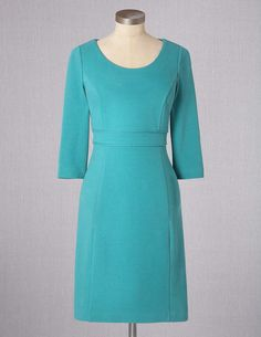 Textured Ponte Dress WH518 Above Knee Dresses at Boden