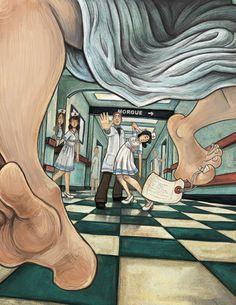 New life taking over. Lives of Christopher Chant. Sandy Vazan Illustration