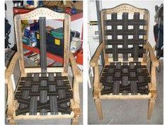 Ideas que mejoran tu vida Outdoor Chairs, Outdoor Furniture, Outdoor Decor, Chair Upholstery, Ideas Para, Diy, Wood, Ideas Creativas, Home Decor