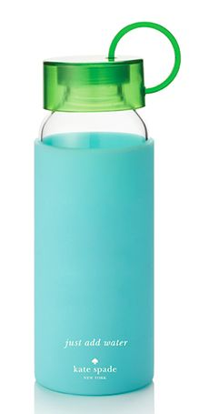 Keep hydrated with this Kate Spade Just Add Water Bottle- Turquoise