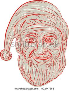 Drawing sketch style illustration of a melancholy Santa Claus looking sad, gloomy and dejected viewed from front set on isolated white background. Drawing Sketches, Drawings, Melancholy, Halloween Art, Royalty Free Stock Photos, Retro Illustrations, Sad, Art Prints, Vector Stock