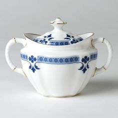 """Royal Crown Derby """"Grenville"""" Covered Sugar Bowl Home - Dining & Entertaining - Bloomingdale's Royal Crown Derby, Crown Royal, Blue And White China, Dinner Sets, China Patterns, Fine Porcelain, Fine China, Sugar Bowl, Geometric Shapes"""