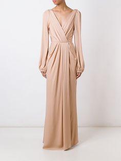 Alexander McQueen вечернее платье с V-образным вырезом