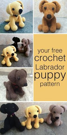 Crochet Dog Pattern Crochet Labrador How To Make Your Own Toy Dog The Labrador Site Crochet Dog Pattern Easy Dog Sweater Free Crochet Pattern Free Crochet Pets. Crochet Dog Pattern How To Crochet A Cute Toy Dog Diy Crafts Tutorial Gui. Crochet Diy, Crochet Gratis, Crochet For Kids, Crochet Dolls, Crochet Ideas, Simple Crochet, Simple Knitting, Crocheted Toys, Crochet Food