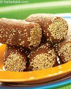 Sugar Free Date Rolls ( Healthy Diabetic Recipe )   Desserts recipes   Delicious Diabetic recipes   Health   Tarladalal.com