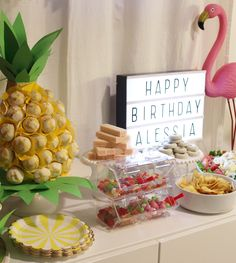 Kids tropical birthday party - candy bar