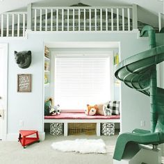 "Wow! #kidsspace "" kinderkamer #vide met #glijbaan 