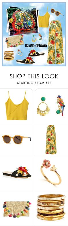 """""""See You in the Caribbean!"""" by krusie ❤ liked on Polyvore featuring Thierry Lasry, Miguelina, Charlotte Olympia and Ashley Pittman"""