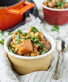 spiced sweet potato chana dal