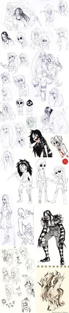 Creepypasta sketches by sketchytimez on DeviantArt