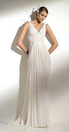 flowing wedding dress with straps