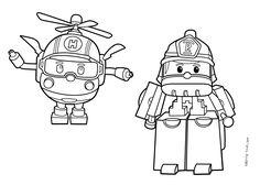 Robocar poli roy coloring page coloriage pinterest - Dessin anime gratuit robocar poli ...
