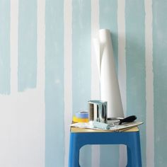 DIY self-adhesive wallpaper    CB2 - blank white wallpaper you can draw on with pens, pencils, markers, crayons and paint.