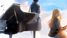 arima_kousei blonde_hair clouds hewsack instrument long_hair male miyazono_kaori piano seifuku shigatsu_wa_kimi_no_uso sky violin I Feel Depressed, Miyazono Kaori, Bts Twice, Instruments, You Monster, Your Lie In April, Live Action Film, Pretty Wallpapers, Desktop Wallpapers