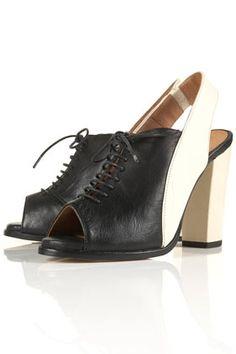 GREENWICH Peep Slingback Shoes - StyleSays