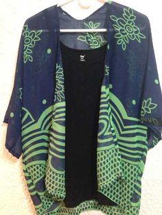 Chaleco Tipo Kimono Para Mujer