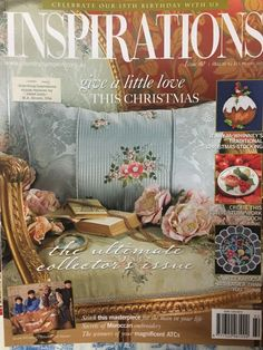 Inspirations Magazine The World 039 s Most Beautiful Embroidery Issue 60 NEW World's Most Beautiful, Beautiful World, Traditional Christmas Stockings, Australia Country, Collage, E Magazine, Inspirations Magazine, Patterned Sheets, Cross Stitch Designs