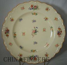 crown ducal china | Details about CROWN DUCAL china PINAFORE pattern 2107 Dinner Plate 9 7 ...