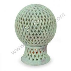 NOVICA Jali Lattice Globe' Soapstone Candleholder * You can get more details by clicking on the image. (This is an affiliate link) Soapstone, Mirrored Wall Sconce, Marble Candle Holder, Wooden Lanterns, Metal Candelabra, Wood Candle Sticks, Candle Holder Wall Sconce, Small Lanterns, Marble Candle
