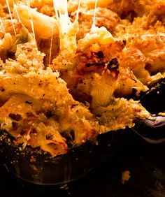 Cheesy Baked Penne with Cauliflower and Crème Fraîche - Looks easy...from Bon Appetit