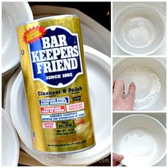 The Best way to remove scratches from White Dishes