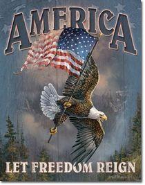 America - Let Freedom Reign. America - Let Freedom Reign. I Love America, God Bless America, America America, American Pride, American History, American Flag Eagle, American Freedom, American Spirit, American Presidents