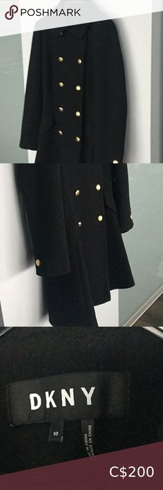Check out this listing I just found on Poshmark: New DKNY Black wool coat. #shopmycloset #poshmark #shopping #style #pinitforlater #Dkny #Jackets & Blazers Black Wool Coat, Plus Fashion, Fashion Tips, Fashion Trends, Winter Sale, Fit And Flare, Double Breasted, Blazers, Clothes For Women