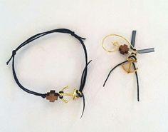 Nautical themed witness pin and bracelet. www.polychromo.etsy.com