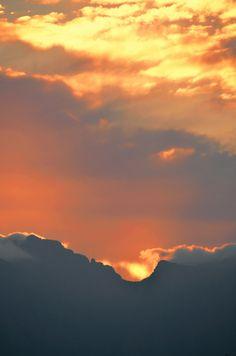Sunrise over the Hottentots Holland Mountain Range Western Cape