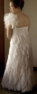 Pinky O's wedding gown... bias cut panels Wedding Designs, One Shoulder Wedding Dress, Wedding Gowns, Bride, Fashion, Homecoming Dresses Straps, Wedding Bride, Moda, Bridal Gowns
