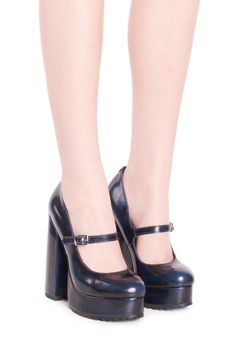 Jeffrey Campbell Shoes ADORLEE in Navy Brushed