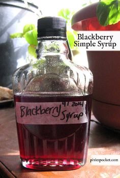 A recipe for blackberry cordial and blackberry simple syrup for sweetening it! Enjoy the bounty of your wild brambles like I do with this sweet, fruity booze.